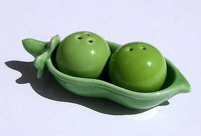 Two Peas in A Pod ~ Ceramic Salt and Pepper Shakers by Kate Aspen
