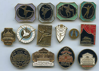 BALLET Dance OPERA & BALLET Houses THEATRES 14 pins badges lot collection
