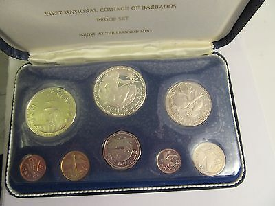 1973 Barbados 8 Coin Proof Set, Mint Package, 2 Silver Coin #3