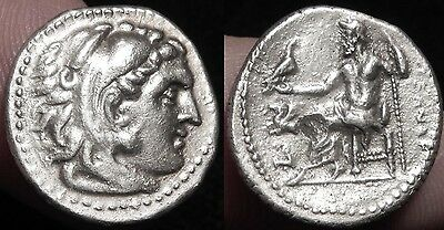 MORTOWN Alexander The Great Silver Drachm Hercules Lion Zeus + Pegasus