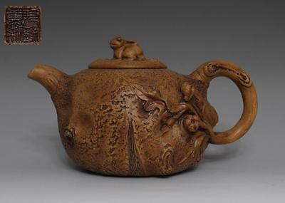 Exquisite Chinese Yixing Zisha Purple Sand Pottery Teapot Marked #092