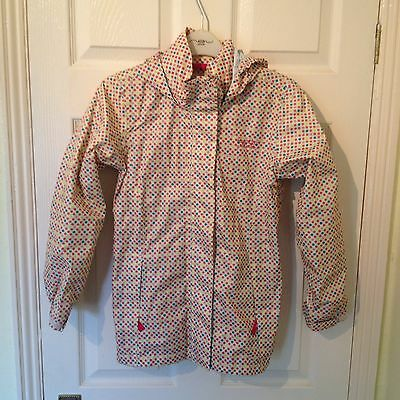 Pink & Blue Polka Dot Regatta Thin Waterproof Jacket Age 11/12
