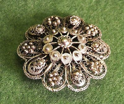 2 Vintage Floral Brooches