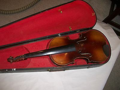 Violin for restoration unmarked 4/4 as found Strad