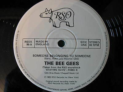 "Bee Gees-Someone Belongs To Someone/snf Megamix. Original Disco/soul/funk 12""."