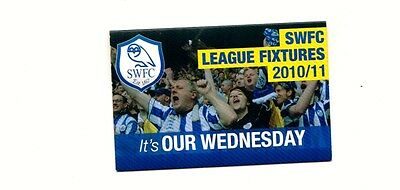 Fixture Booklet - Sheffield Wednesday 2010-2011
