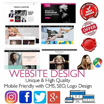 Web Design, 5 Page Website, Professional Website Design Services  IN 48 HOURS