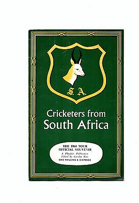 1960 Cricketers From South Africa  - Official  Tour of England