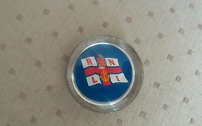Vintage Collectable RNLI Lifeboat Glass Paperweight