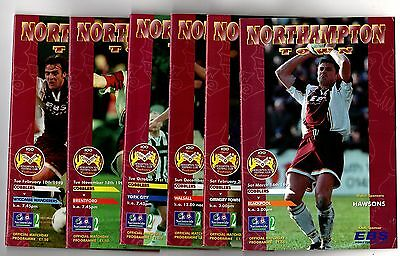 1997-1998  Northampton Town  Home Programmes - select the one you want POST FREE