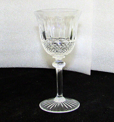 """St Louis Crystal Tommy 6 3/4"""" Red Burgundy Wine Goblets Sold Individually"""