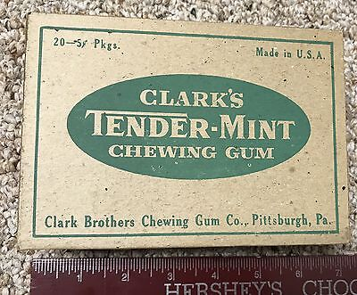 Clark's Tender-Mint Chewing Gum Cardboard Box D.L. Clark Co