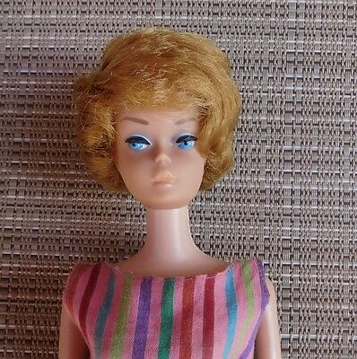Vintage 1965 Honey Blonde BEND-LEG Bubblecut Barbie American Girl Face