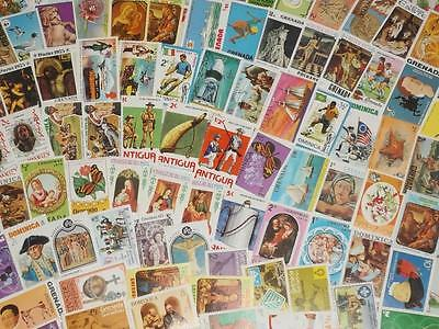 Large Collection Of Mint British West Indies Stamps!