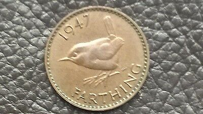 KING GEORGE VI FARTHING 1947 coin