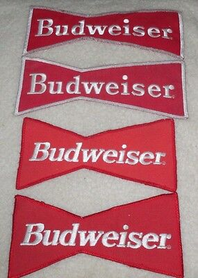 Budweiser Iron On Sew On Patch Bow Tie Design Mixed Lot (4)