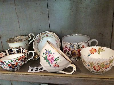 Antique English china pretty Tea cups  job lot Cabinet Cups