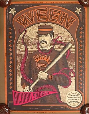 Ween Concert Poster Cooperstown NY 2017 S/N X/40 A/P Status Serigraph
