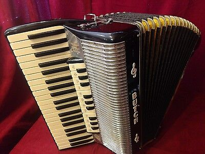 Vintage Pre-War Piano Accordion Black Butch LMMH 41/120 FOR PARTS OR REPAIR