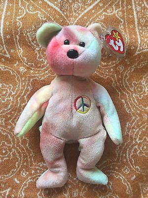 Ty Beanie Baby Peace Bear Soft Toy New With Tag