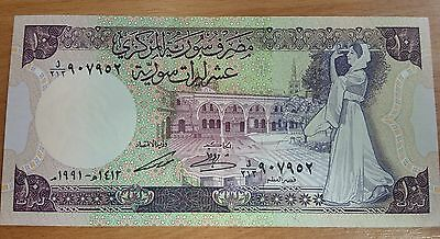 10 SYRIAN POUNDS BANKNOTE 1991 UNCIRCULATED  P101e
