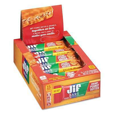 Jif Bars Peanut Butter Granola Bars, 1.4 oz Bar, 15/Box 051500210024