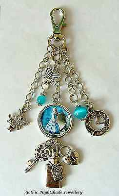 Alice in Wonderland Drink Me themed Keyring/Bag Charm Steampunk Victorian