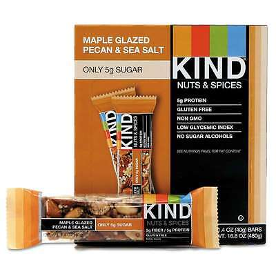 KIND Nuts and Spices Bar, Maple Glazed Pecan and Sea Salt, 1.4 oz 602652171901