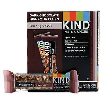 KIND Nuts and Spices Bar, Dark Chocolate Cinnamon Pecan, 1.4 oz,  602652177521