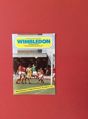 83/84 Wimbledon v Oxford U(league 3)