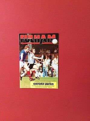 81/82 Fulham v Oxford U(league 3)