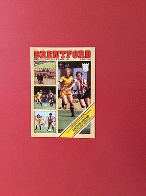 81/82 Brentford v Oxford U(league 3)
