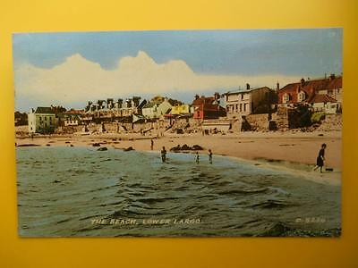 Houses & Beach LOWER LARGO Nr Leven Fife *Vintage* c1960 Standard Size