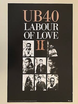Ub40, Labour  Of Love Ii, Authentic 1990  Poster