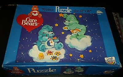 Vintage Care Bears puzzle bedtime and wish bear 1983