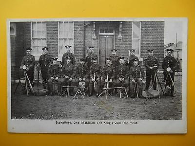 Signallers 2nd Battalion The Kings Own Regiment *Vintage* Wellington Series 1905