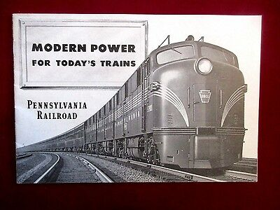 Modern Power For Today's Trains Pennsylvania Railroad Vintage Brochure 1949