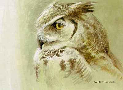 Samantha Great Horned Owl by Robert Bateman Limited Edition LE Print Signed