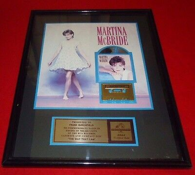 "MARTINA MCBRIDE RCA GOLD RECORD AWARD ""THE WAY THAT I AM""  RIAA Certified Gold"