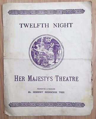 1901 Hes Majesty's Theatre Programme - TWELFTH NIGHT by William Shakespeare