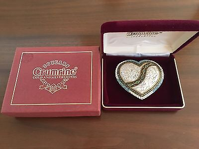 Crumrine Heart Belt Buckle- New With Box