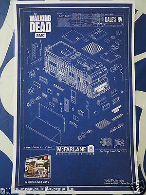 Walking Dead Todd McFarlane poster Dale's RV 2015 Comic-Con SDCC exclusive MINT