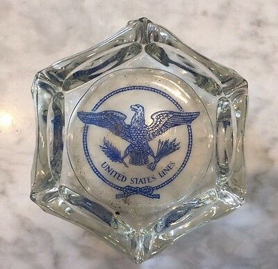 Original SS United States Ocean Liner Ashtray