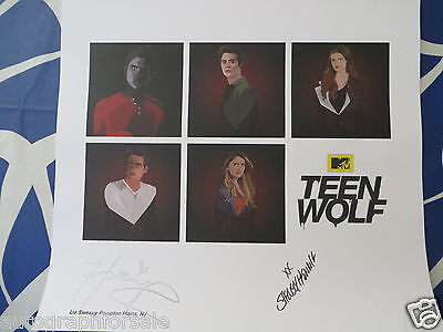 Holland Roden & Shelley Hennig signed auto Teen Wolf 2015 Comic-Con litho poster