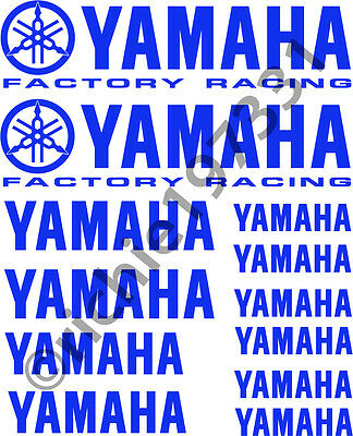 YAMAHA Factory Racing Tank Rim Fairing Decal Set Stickers Choice of Colours