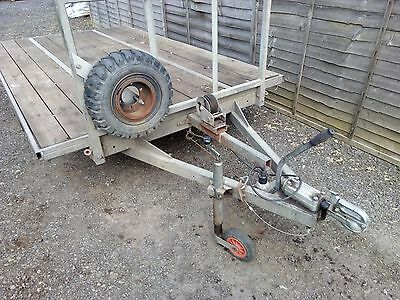 Heavy Duty Flat Trailer - 10ft x 6ft Galvanised - with Ramps