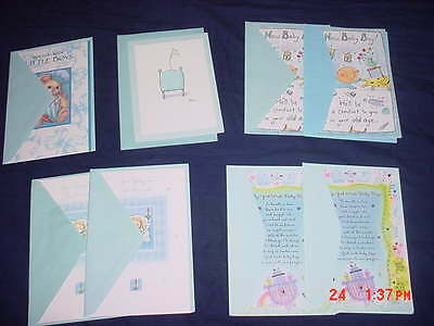8 Baby Boy Birth Announcement Greeting Cards