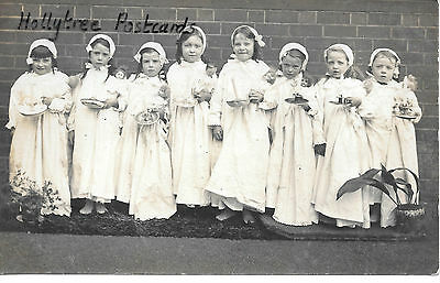 Abbotts Bromley collection children in a play  Staffordshire RP