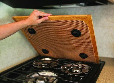 Universal Silent Stove Top Cover Counter Solid Oak Home RV Burners Protect Hide