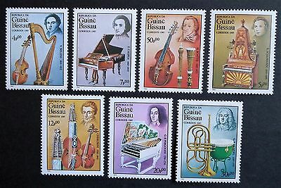 Guinea Bissau (1985) Musical Instruments / Int Year of Music - Mint (MNH)